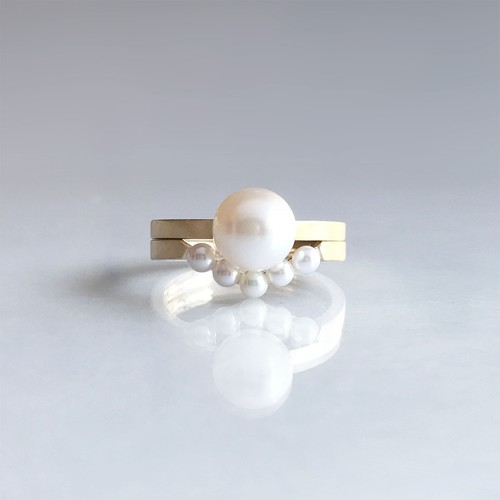 Aphrodite Collection Set Ring -Akoya Cultured Pearl-