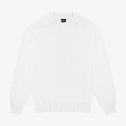 Cotton Crewneck Sweater(White)