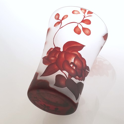 Japanese flower glass 和柄の花コップ