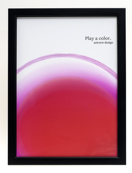 Play a color. ~Pink Rise~  A4サイズ 黒額入り