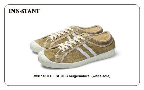 #307 SUEDE SHOES beige/natural (white sole)  INN-STANT インスタント