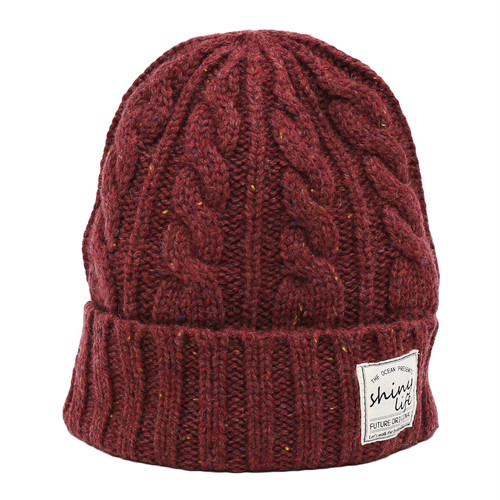 NEP CABLE KNIT CAP - WINE