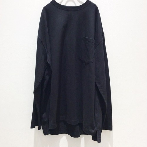再入荷 OMIYAGE you know-pocket big long tee   Black