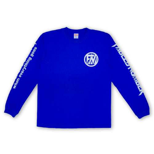 LONG SLEEVE T-shirts[青×白]