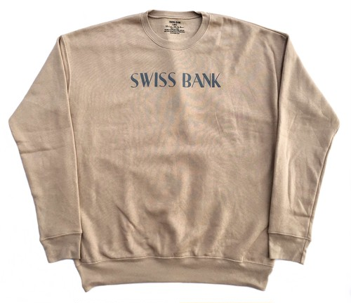 SWISS BANK CLASSIC LOGO CREW NECK L TAN