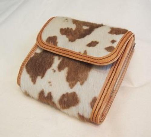 【オーダーメイド制作例】ハラコ革のがま口3つ折り財布  (KA118b2)