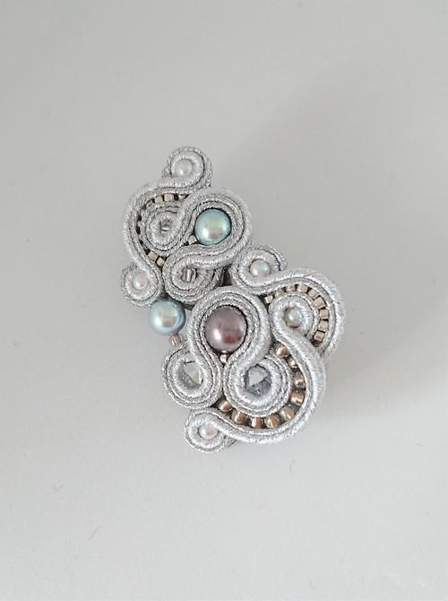 【展示作品・受注可】ソウタシエ ブローチ Silver #2