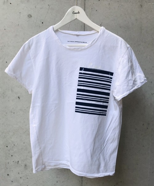 MAGLIA(マリア) Tシャツ Ciao MARE BLU クルネック ホワイト