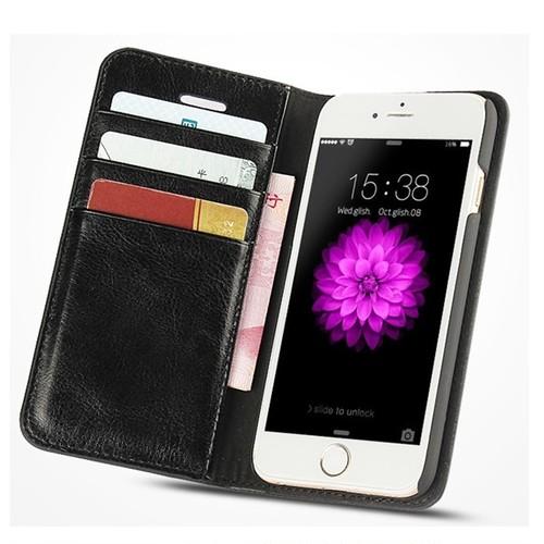 iPhone7/8 手帳型 高級PUレザー サドルフリップ財布 スマホケース