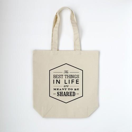 Typography トートバッグ