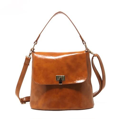 Shoulder Bag Large Capacity Casual Bucket Handbag PU Leather Tote Bag カジュアル ショルダーバッグ トートバッグ レザー ハンドバッグ (HF99-9694591)