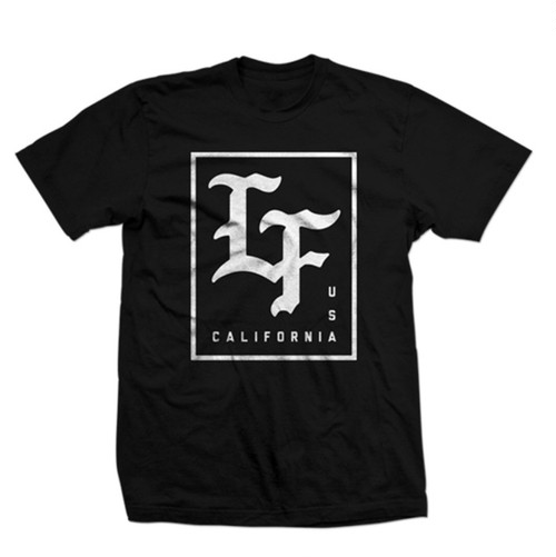 LIVE FIT Stamped Tee- Black/White