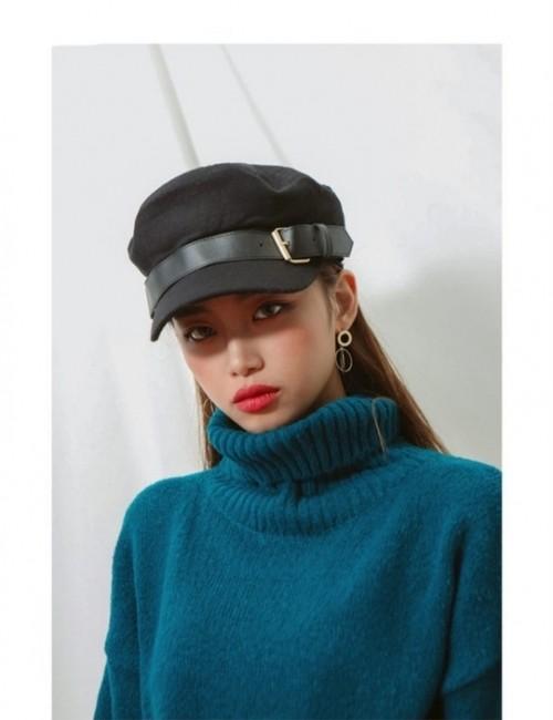 コットンベルトキャスケット キャスケット  韓国ファッション