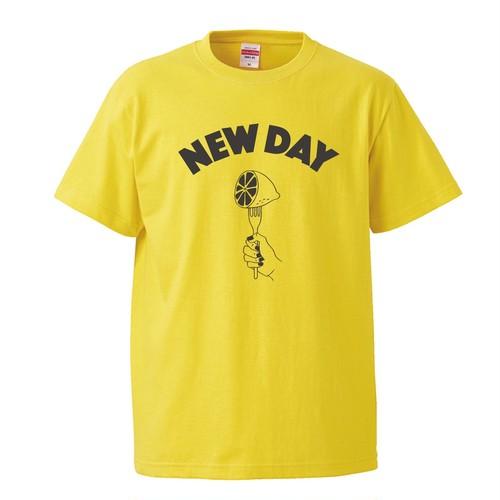 ✳️再入荷【NEW DAY 】T-Shirt (YELLOW × SUMI)