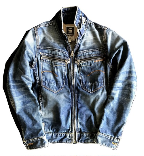【G-STAR RAW】ARC ZIP SLIM 3D Denim Jacket