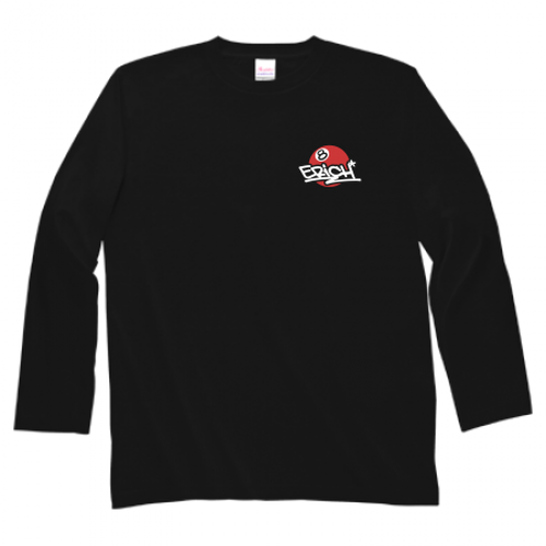 ERICH / ONEPOINT EIGHT-BALL LOGO SLEEVE T-SHIRT BLACK x RED