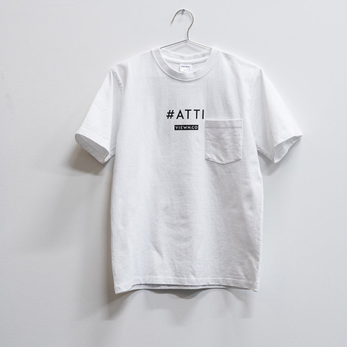 #ATTI Tシャツ ホワイト(ステッカー付き)【送料無料】