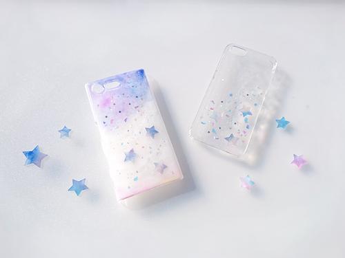 淡い 星 の欠片のスマホケース (多機種対応 ・Android / Xperia AQUOS Galaxy ARROWS 他)