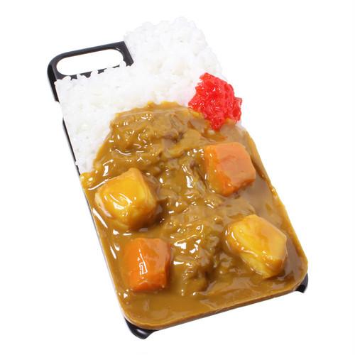 [8043]食品サンプル屋さんのスマホケース(iPhone7 Plus/iPhone8 Plus:カレーライス)【メール便不可】