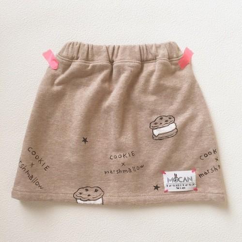 """スカート  """"クッキー×マシュマロ""""  90/100/110 size"""