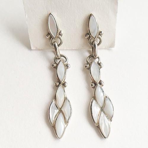ZUNI silver mother of pearl pierce[p-430]
