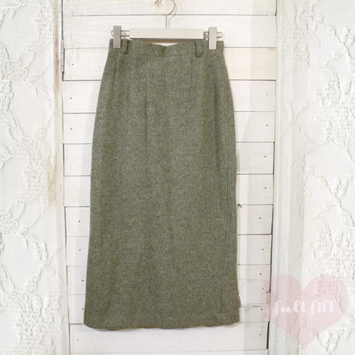 グレーリブニットタイトスカート