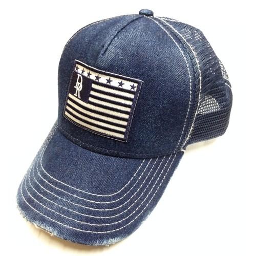 RESOUND CLOTHING(リサウンドクロージング)VINTEAGE DENIM RESOUND FLAG CAP IND A