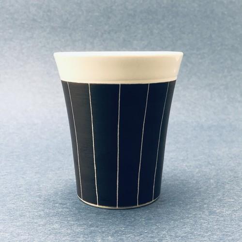 砥部焼/線彫フリーカップ(大)/一夢工房