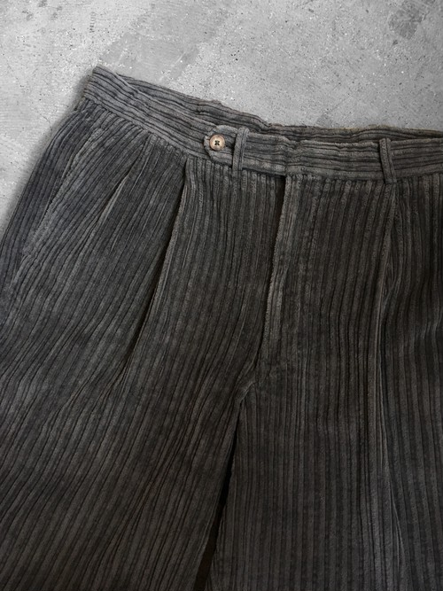 corduroy tuck trousers