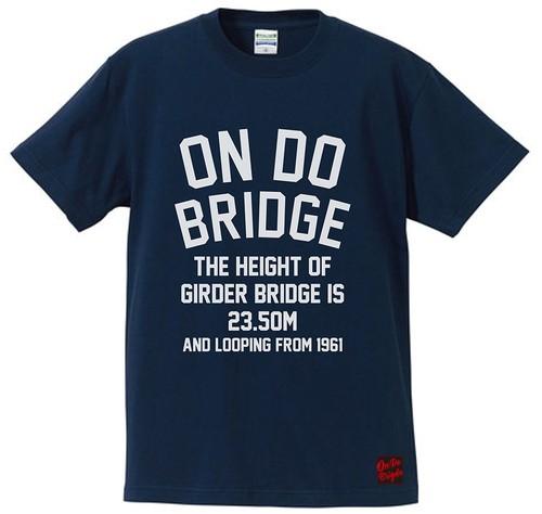 ON DO BRIDGE LETTERS T-SHIRTS インディゴ