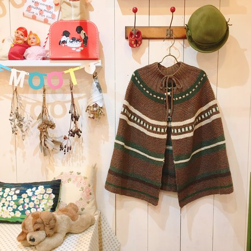 Euro Graphical Knit PONCHO