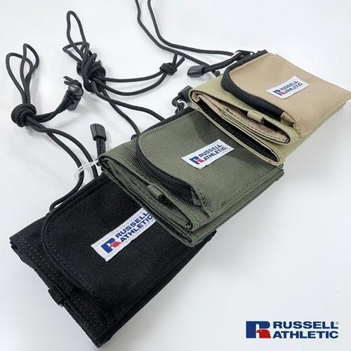 RUSSELL ATHLETIC 0551009 ショルダー付きミニウォレット 撥水ナイロン