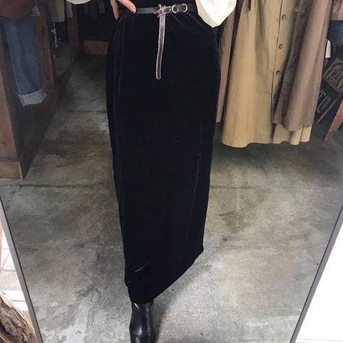 black velours skirt