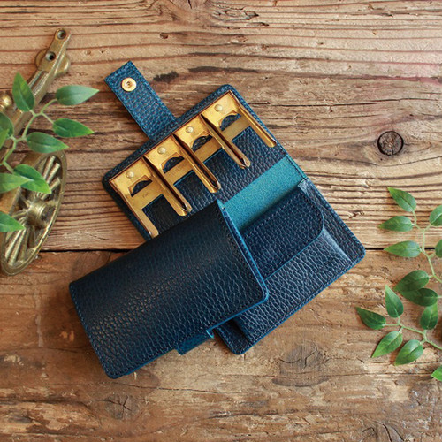 Coin Wallet Ⅱ / DARK BLUE コインキャッチャー ( GOLD ) *小さい財布*