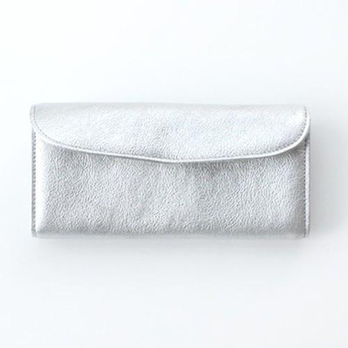 StitchandSew 蓋タイプ ロウ引きレザー Silver