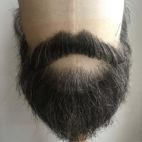 高品質 ロシア製 付け髭 No.43 人毛100% 髪製髭 ウィッグ 職人手作り品です。