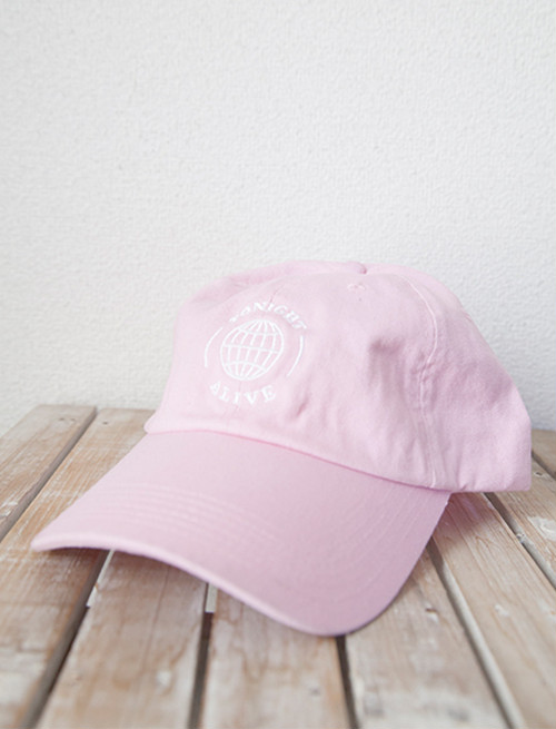 【TONIGHT ALIVE】Globe Dad Hat (Pink)