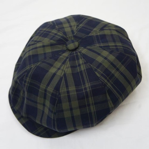 MADRAS CHECK 8PANEL BIG CASQUETTE GREEN×BLACK