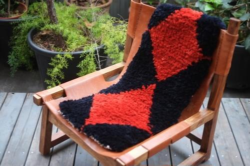 佐藤さんのノッティング  <手織りの椅子敷き><ロングタイプ>