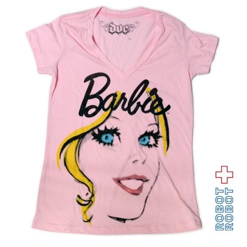 Tシャツ レディース 新品 バービー TSHIRT NEW DOE Barbie Pink V Neck