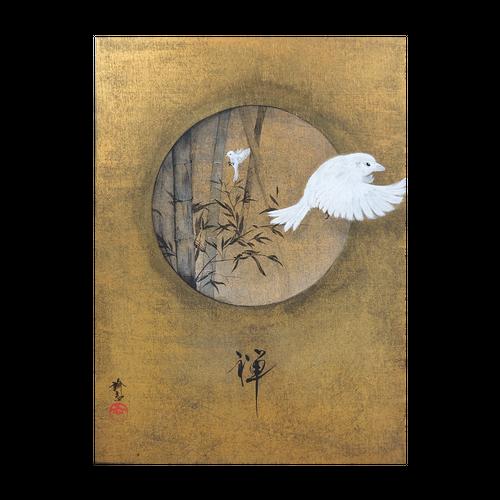 【木パネル】禅【F4/24.2×33.3cm】