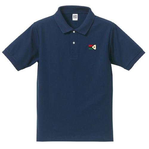 3色KYUSロゴ ポロシャツ(インディゴ)
