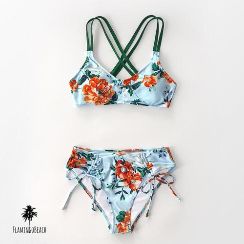 【FlamingoBeach】flower bikini ビキニ 73828
