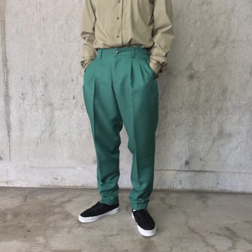 【dustbin】TWO-TUCK TROUSERS