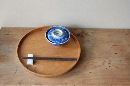クルミの丸盆(27cm)