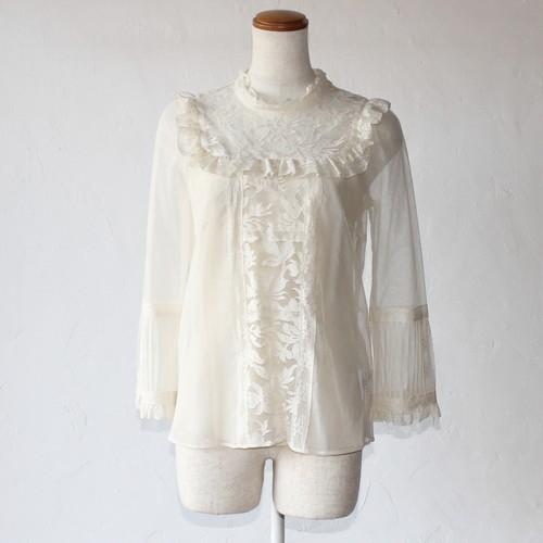 【leur logette】lace blouse-white