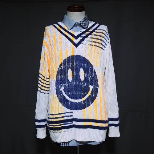 Re1046: SMILEY CHECK CHILDEN KNIT
