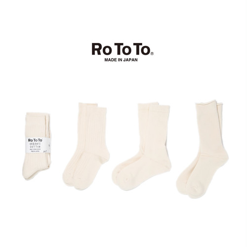 (ロトト)RoToTo ORGANIC COTTON DAILY 3 PACK SOCKS