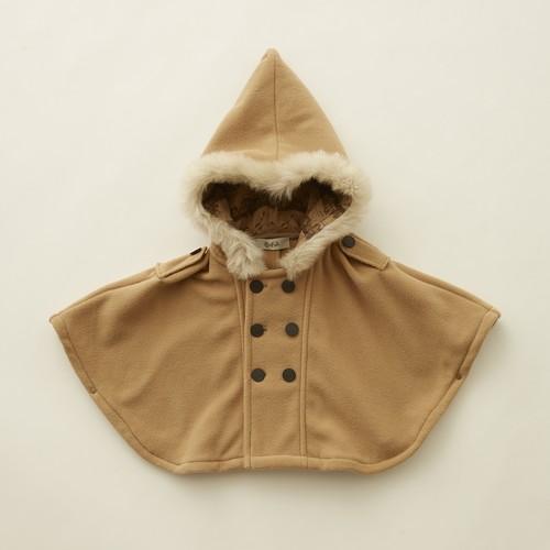 《eLfinFolk 2021AW》Freece  baby cape / beige / F(80-100cm)