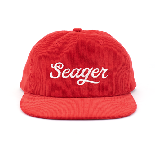 SEAGER #Big Red Corduroy Snapback